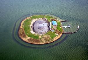 <p>Fortress island Pampus from the air</p>