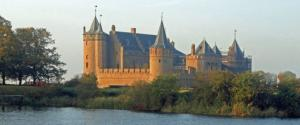 <p>Amsterdam Castle Muiderslot at the mouth of the Vecht River</p>