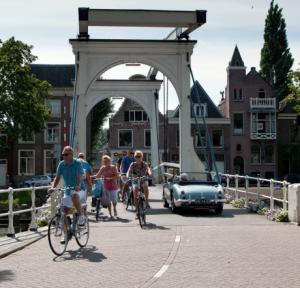 <p>Biking from Muiden to Amsterdam through beautiful Weesp!</p>